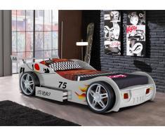 Letto a forma di auto RUNNER con cassetto - 90 x 200 cm - Bianco