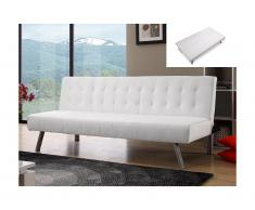 Divano letto clic clac in similpelle Bianco - GUILLAUME