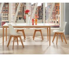 Set tavolo da pranzo SEDNA + 4 sedie PADDY - Bianco