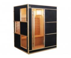 Sauna tradizionale finlandese 3/4 posti LAHTI - Nero
