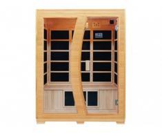 Sauna infrarossi 3 posti EDVIN - L150xP120xH190 cm - 2200W