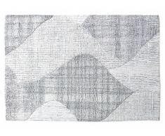 Tappeto intessuto a mano in lana ROOST - 160x230 cm - Grigio e avorio