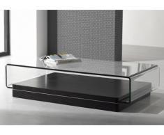 Tavolino GLOSS con ripiano in vetro temperato - Nero