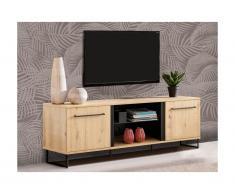 Mobile TV - 2 ante e 2 nicchie - Colore: Quercia - PHILADELPHIE