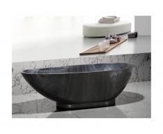 Vasca da bagno freestanding 180x85xH58 cm Effetto marmo Nero - MARBELA