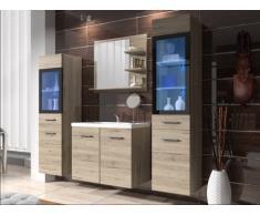Set LAURINE a led - mobili per sala da bagno - quercia