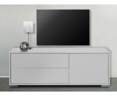 Mobile TV KIRA - 1 anta e 2 cassetti - Bianco