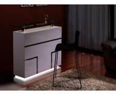 Mobile bar LUMINESCENCE - MDF laccato bianco e vetro temperato 12 mm - LED