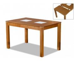 Tavolo allungabile SALENA II - Da 4 a 6 coperti - Faggio massello color quercia