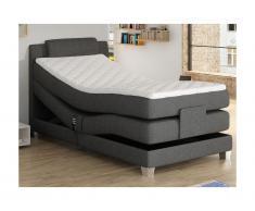 Set letto boxspring testata + reti relax elettriche + materasso + topper 100x200cm - CASTEL di PALACIO