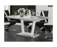 Tavolo da pranzo allungabile da 6 a 8 coperti MDF laccato Bianco - ALIA