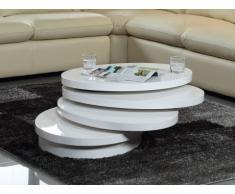 Tavolino girevole CIRCUS - MDF laccato bianco