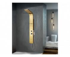 Colonna da doccia idromassaggio termostatico JOSTA - dorato - 45x150 cm