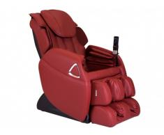 Poltrona massaggiante LETO zero gravity in similpelle - Rossa