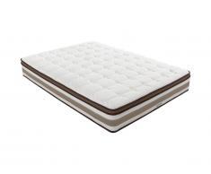 Materasso molle insacchettate 7 zone e memory foam in lattice sp.26cm 160 x 200 cm - SOUVERAIN di DREAMEA