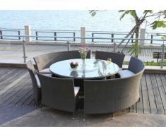 Sala da pranzo RIO GRANDE resina intrecciata grigio/taupe