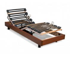 Rete relax con doghe multistrato - 5 livelli - Fissaggio regolabile - 80 x 200 cm - Ciliegio