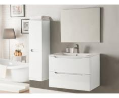 Set STEFANIE - mobile bagno e specchio - Laccato bianco