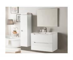 Set Mobili bagno e specchio laccato Bianco - STEFANIE