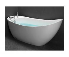 Vasca da bagno freestanding 1 posto 220L L150 x P75 x H70 cm Bianco - NATALIA