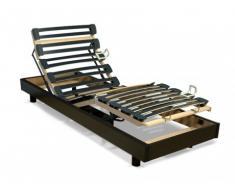 Rete relax con doghe multistrato - 5 livelli - Fissaggio regolabile - 80 x 200 cm - Nero