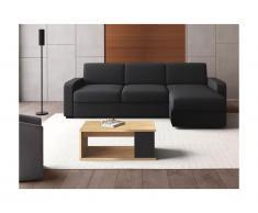 Tavolino rialzabile in Legno e MDF Quercia e bianco - ALDANA