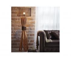 Lampada industriale BROCANTE in legno e metallo - H.149 cm