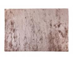 Tappeto shaggy DOLCE Tortora con riflessi beige - Poliestere - 200 x 290 cm
