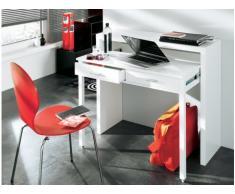 Console-scrivania SISKO - 2 cassetti - Betulla - Colore bianco