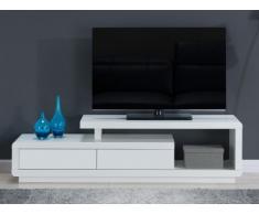 Mobile TV ARTABAN - 2 cassetti - MDF laccato - Bianco