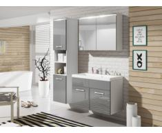 Set NINA a LED - mobili per sala da bagno - Laccatura grigia