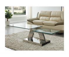 Tavolino con piani girevoli OYRUS - Vetro temperato e metallo