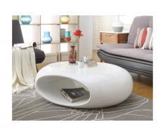 Tavolino CLARTY - Fibra di vetro laccata - Colore bianco