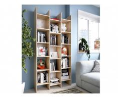 Libreria KOUBAN - 15 riquadri - Colore: quercia