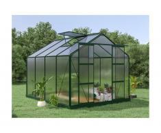 Serra da giardino in policarbonato da 7,5 m² GREENEA II