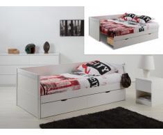 Letto a scomparsa divano ALFIERO - 90x190 cm - Laccato bianco