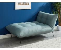 Penisola letto in tessuto Blu chiaro - BERSY