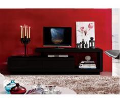 Mobile TV ARTABAN - 2 cassetti - MDF laccato - Nero