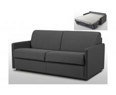 Divano letto a ribalta 3 posti in tessuto Grigio - Materasso larghezza 140 cm - Spessore 14 cm - CALIFE