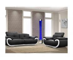 Colonna con acqua e bolle d'aria con vaso GOBIE - LED con colore cangiante - H.183 cm