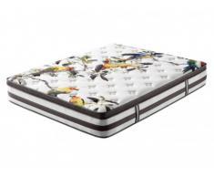 Materasso molle insacchettate e memory foam motivo singolo BIRD di DREAMEA - 140x190 cm