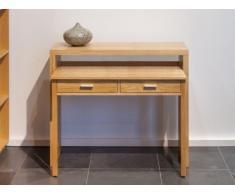 Console-scrivania SISKO - 2 cassetti - Betulla - Colore naturale