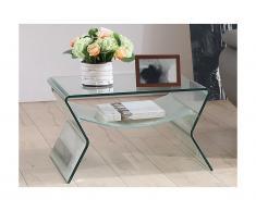 Tavolino da salotto SIERRA - Doppio piano - Vetro temperato