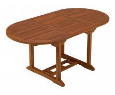 Tavolo da pranzo da giardino allungabile AKUDA - Teak - L 120-170 cm