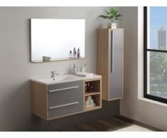 Set JASMINE - mobili per bagno - Legno e grigio