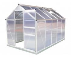 Serra da giardino in policarbonato da 5,92 m² SINCERA con base