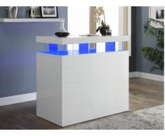 Mobile bar FABIO - MDF laccato bianco - LED