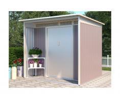 Casetta da giardino in acciaio galvanizzato grigio COLMAR - 5,5 m²