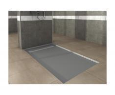 Piatto per doccia pronto da piastrellare sifone incluso 1800 x 800 x 40 mm Grigio tagliabile - RANOS