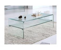 Tavolino con Doppio ripiano in Vetro temperato - STILEOS